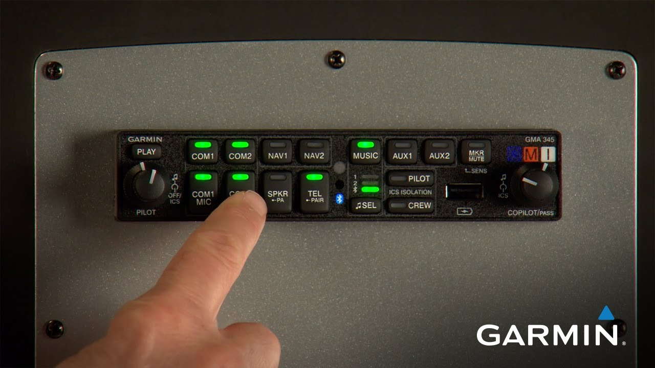 garmin gma 345 audio panel [ 1280 x 720 Pixel ]
