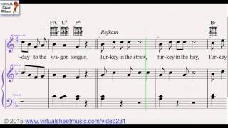 Turkey in the Straw from Thanksgiving Collection - Clarinet and Piano Sheet Music Video Score