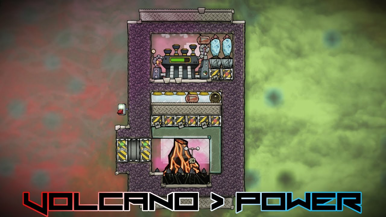 Oxygen Not Included Turn The Volcano Into A Battery Oxygen Steam Turbine Volcano