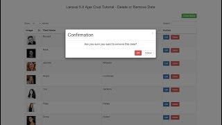 Laravel 5.8 Ajax Crud Tutorial - Delete or Remove Data