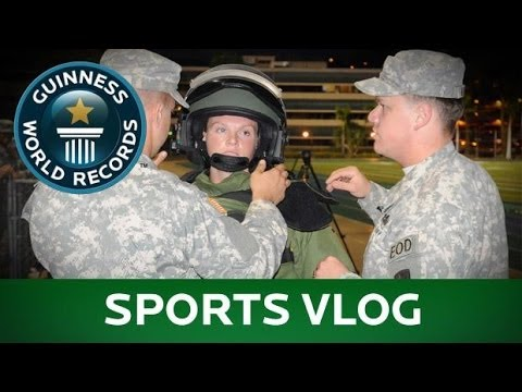 Bomb suits, golf drives, and a tiny pogo stick: Feb. 2014 - Sports Vlog