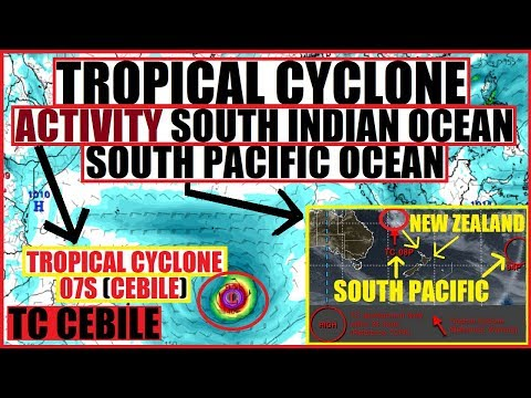 TROPICAL CYCLONE CEBILE New Caledonia New Zealand #TC08P #INVEST94P South Pacific South Indian Ocean