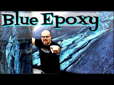 How To Transform Epoxy into Blue Granite