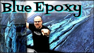 How To Transform Epoxy into Blue Granite