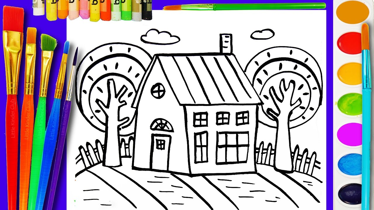 Coloring Page For Kids House Coloring Book For Children To Learn Colouring Videos Youtube