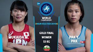 GOLD WW - 53 kg: M. MUKAIDA (JPN) v. Y. PAK (PRK)