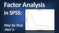 Factor Analysis in SPSS (Principal Components Analysis) - Part 1