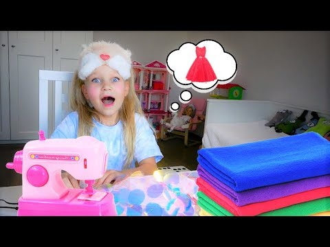Алиса ШЬЕТ ПЛАТЬЕ на детский праздник !
