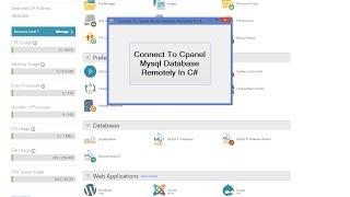 ج# - الاتصال Cpanel MySql قاعدة بيانات عن بعد في C#