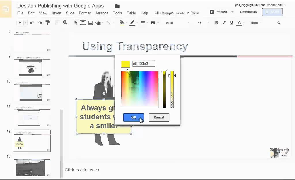 Transparent Fill In Google Slides And Draw Youtube