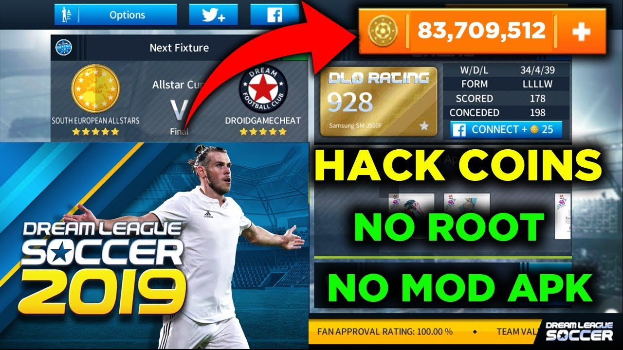 How To Hack Dream League Soccer 2019 Unlimited Infinite Coins Ios Android No Root No Mod Apk Youtube
