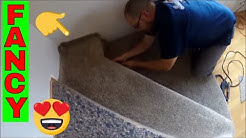 HOW TO CARPET ODD SHAPED STAIRS