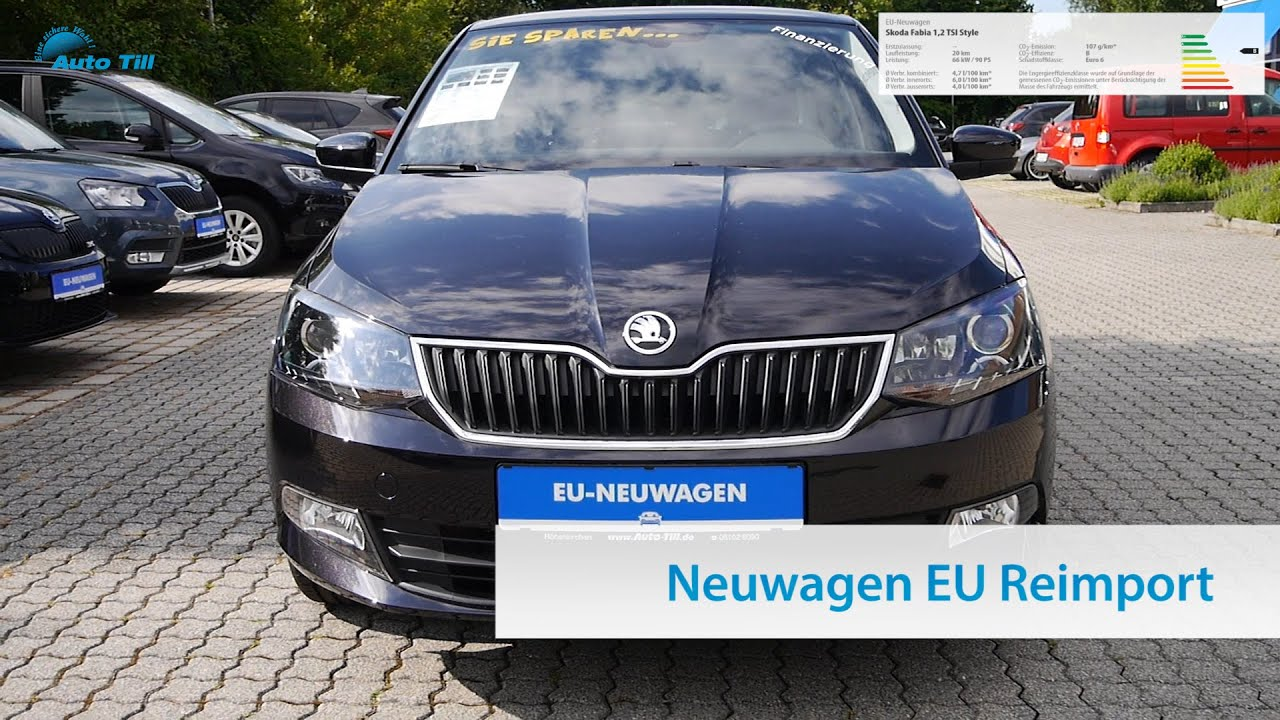 skoda fabia 1 2 tsi style neuwagen eu reimport m nchen bei. Black Bedroom Furniture Sets. Home Design Ideas