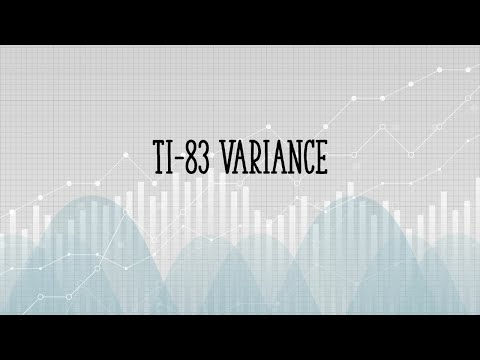 Variance on TI 83