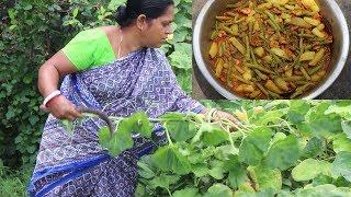 Kumro Data Alu Chingri Chorchori / Full Village Style Chingri and Kumro Data Recipe