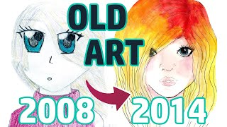 REACTING TO MY OLD ART   PART 1   Middle School