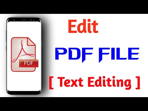 Edit PDF File On Mobile | How Can Edit PDF File For Free [2020]