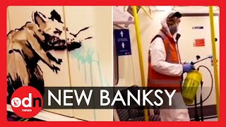 New Banksy Mask-Themed Artwork on London Tube Train Removed by TfL
