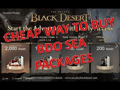 [BDO SEA] Tips and tricks on how to get cheaper packages