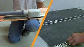 Doccia a pavimento con scarico centrale: installazione