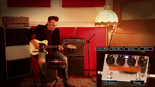 red witch zeus bass fuzz suboctave 6 string guitar demo
