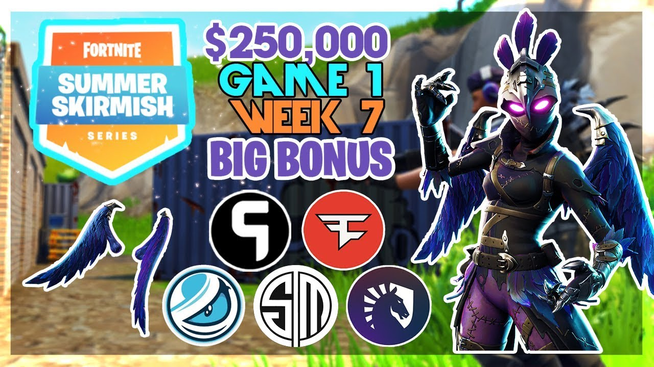250 000 Big Bonus Summer Skirmish Week 7 Game 1 Fortnite