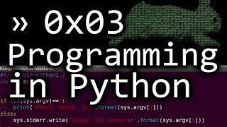 Writing a simple Program in Python - bin 0x03