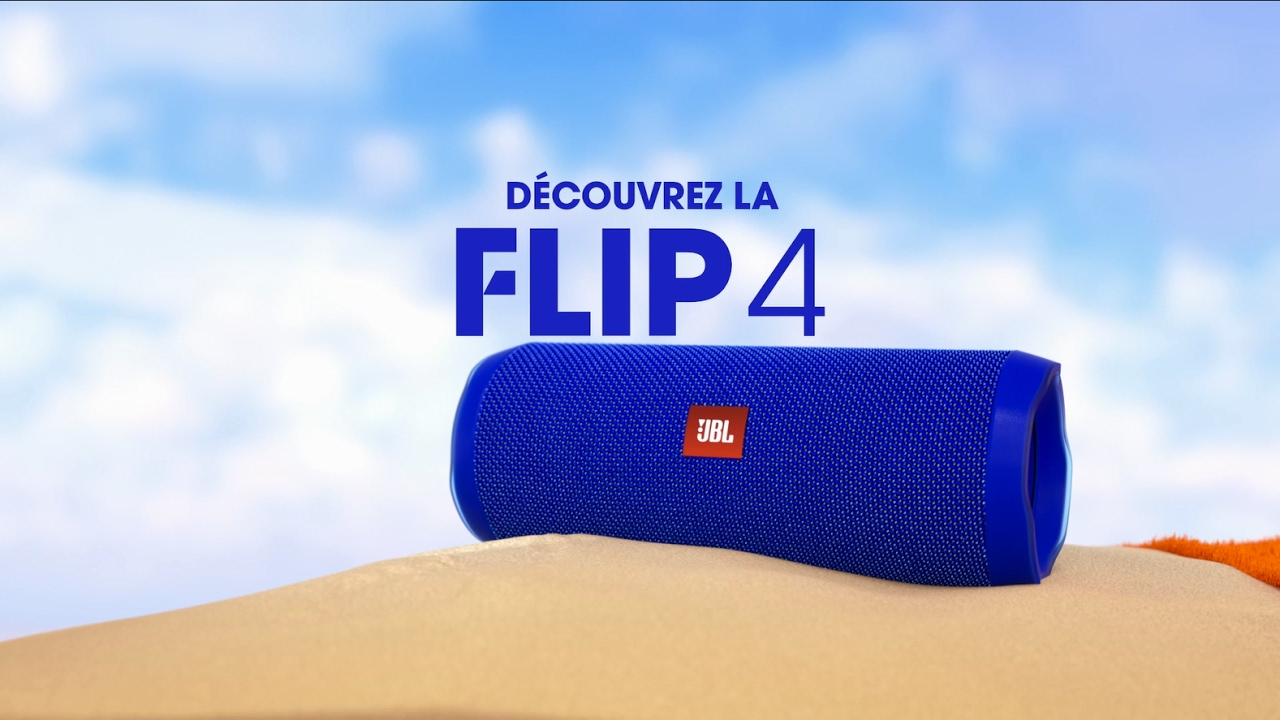 d couvrez l enceinte portable waterproof jbl flip 4 youtube. Black Bedroom Furniture Sets. Home Design Ideas