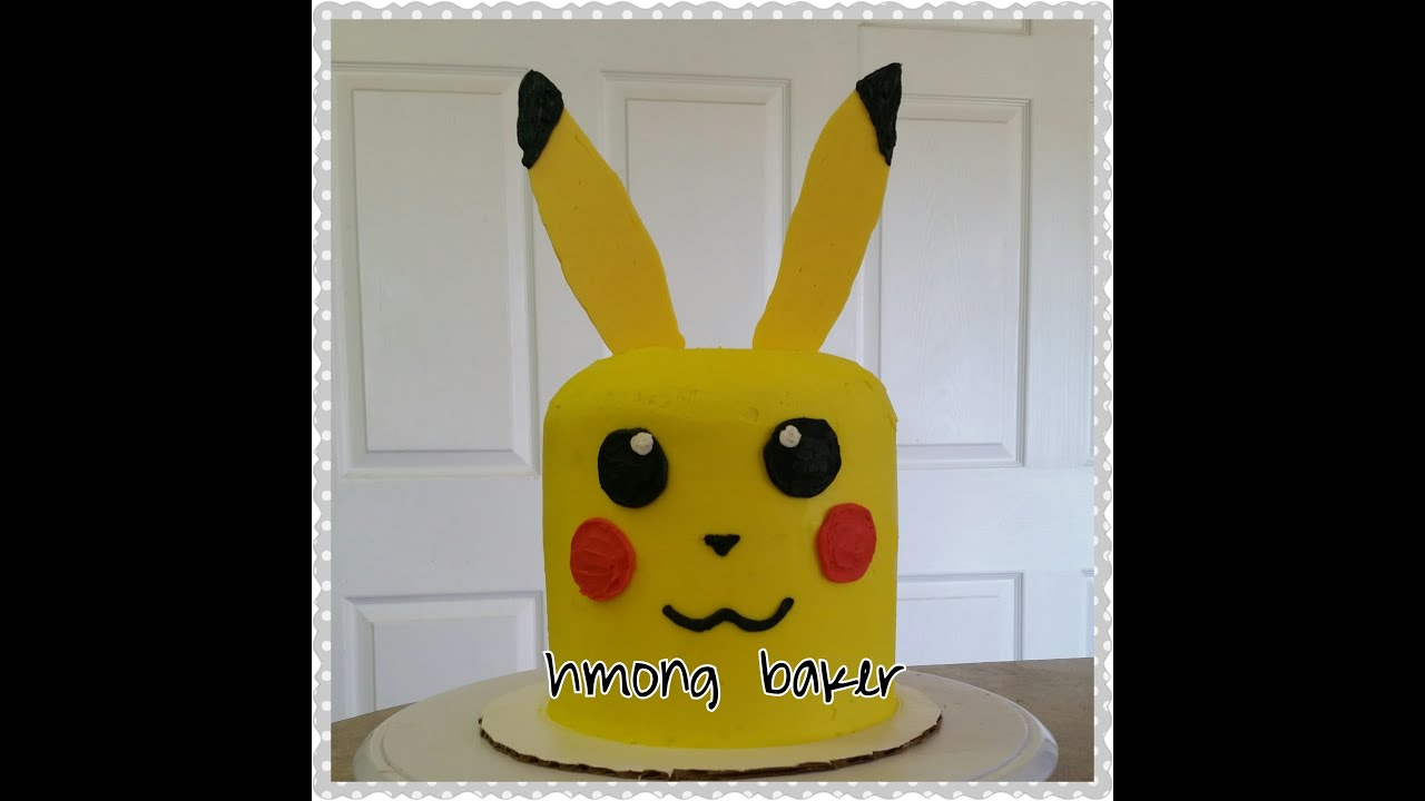 How To Make A Pokemon Cake Youtube