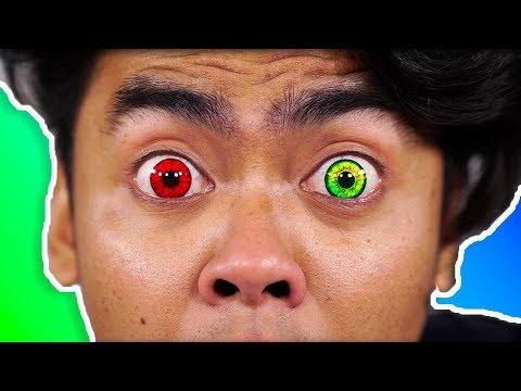 I Tried Colored Contacts For The First Time! ~ Guava Juice