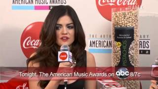 Lance Bass and Eden Sher Interview Lucy Hale - Coca Cola Red Carpet LIVE!@ the 2012 AMAs