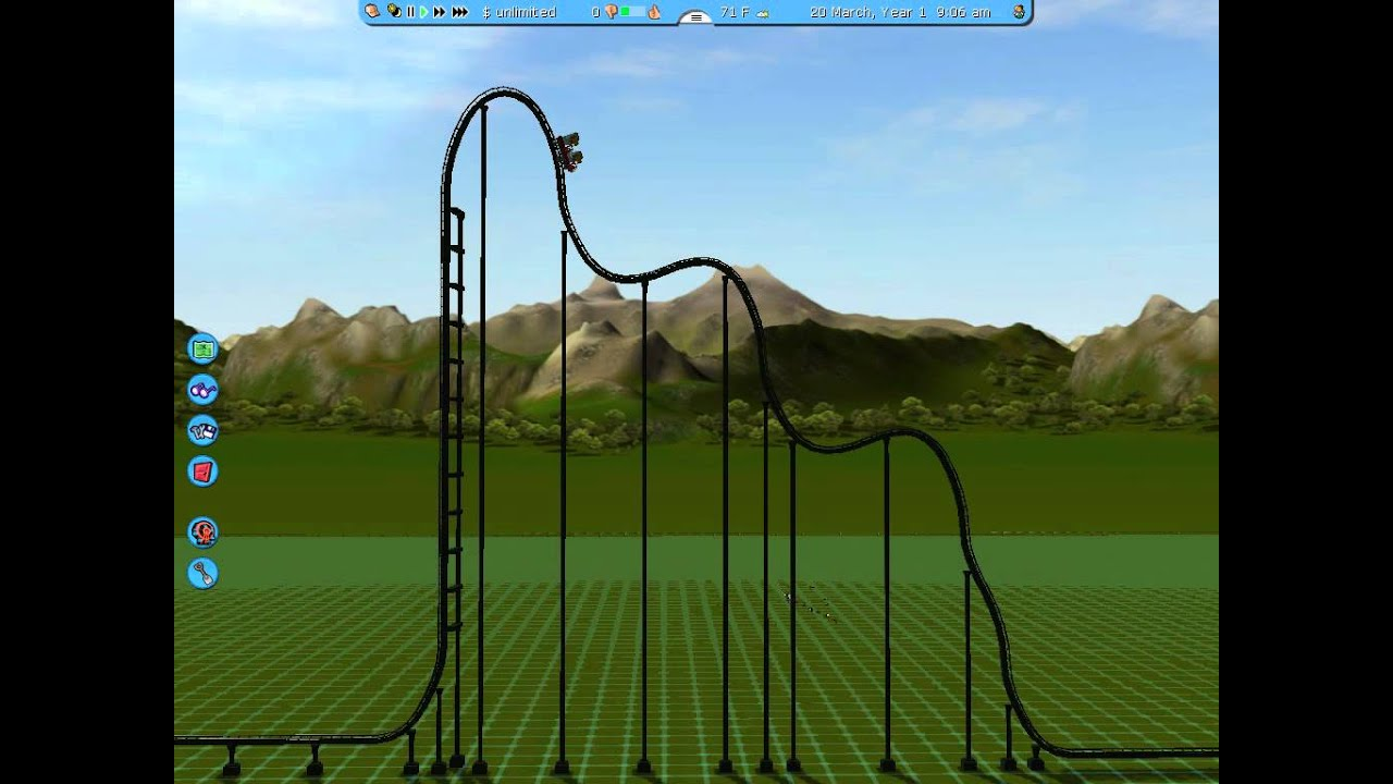 Side view of roller coaster - YouTube