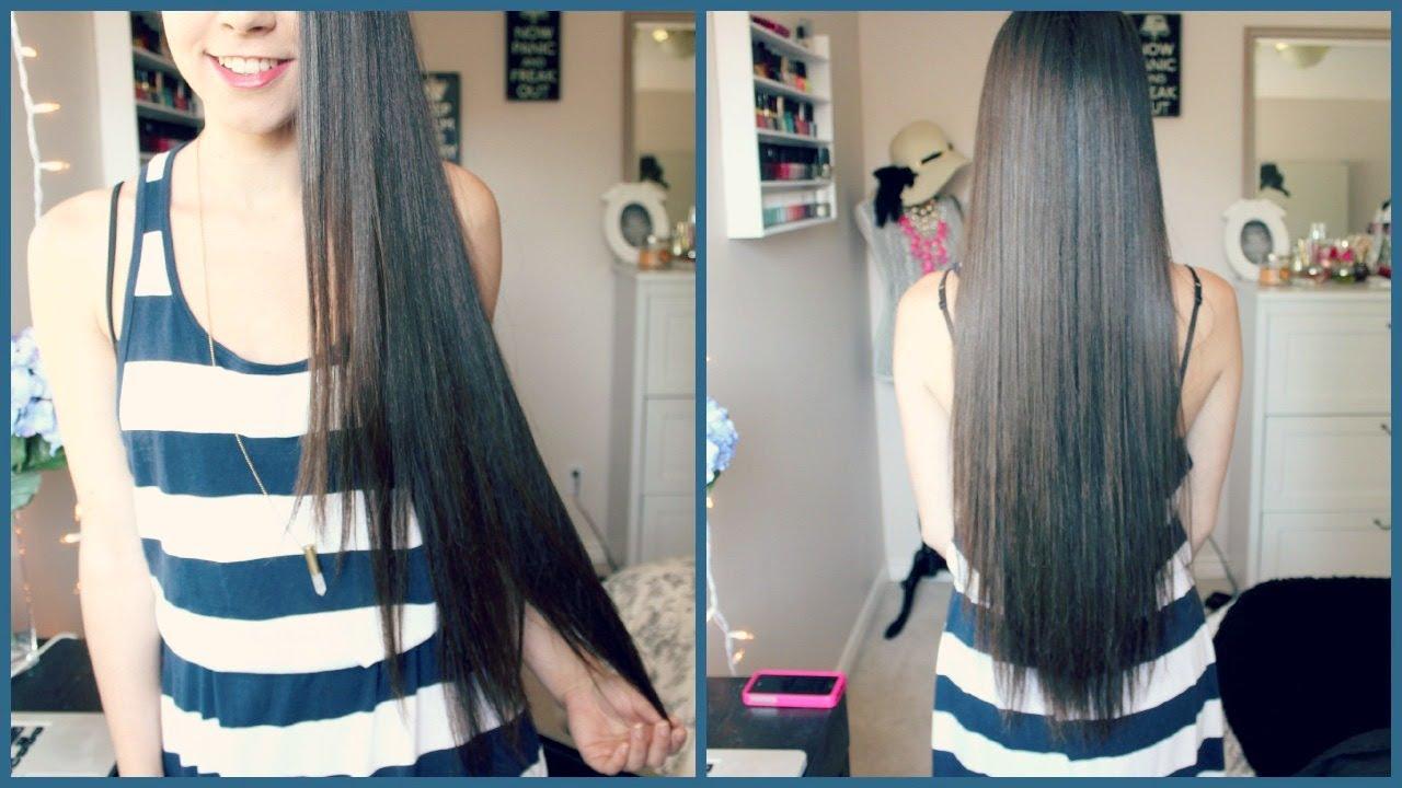 Hair care routine for long hair