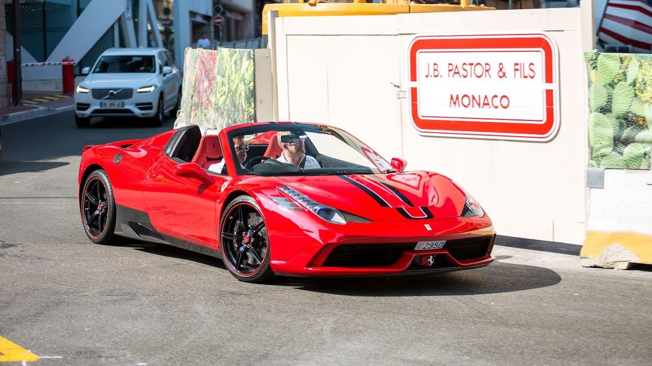 Ferrari 458 Speciale Aperta Driving in Monaco !