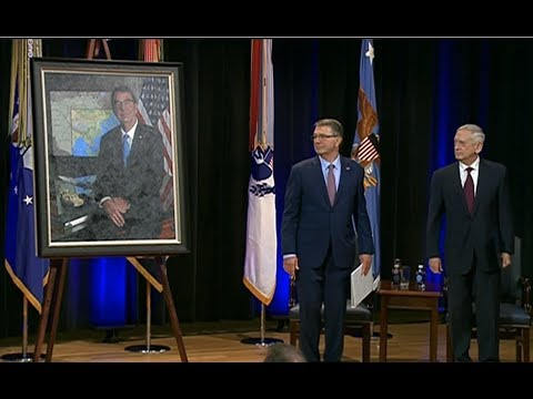 PENTAGON: 2/2/18. Portrait Unveiling For Former Defense Secretary Ashton Carter.