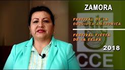 Abril: festivales La Orquidea Amazónica, Fiesta en la Selva, CCE Zamora Chinchipe