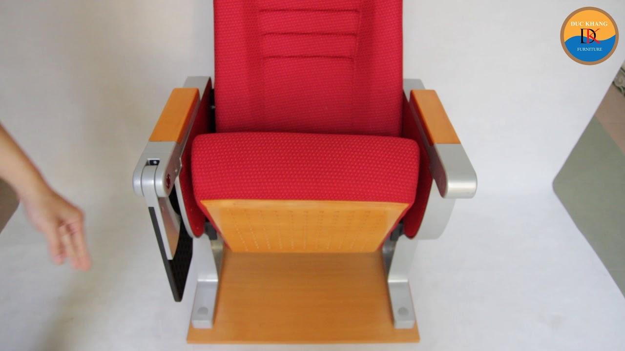 Ghế WH8013-2 – Ghế hội trường nhập khẩu Đức Khang kèm bàn viết