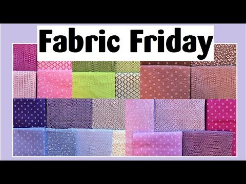 Fabric Friday is on My Blog This Week