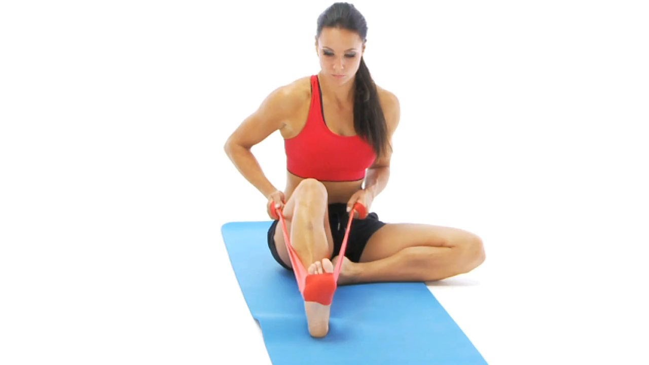 Ankle Exercise Bent Knee Plantar Flexion With Band Youtube