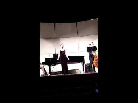 "Clare Nowak sings ""Bye Bye Blackbird"" and ""Peel Me a Grape"""
