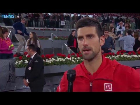 Djokovic Into Madrid 2016 SF