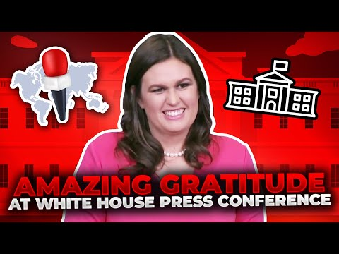 AMAZING GRADITUTE: U. S. Press told to  say something nice, before a question, W.H. Press Conference