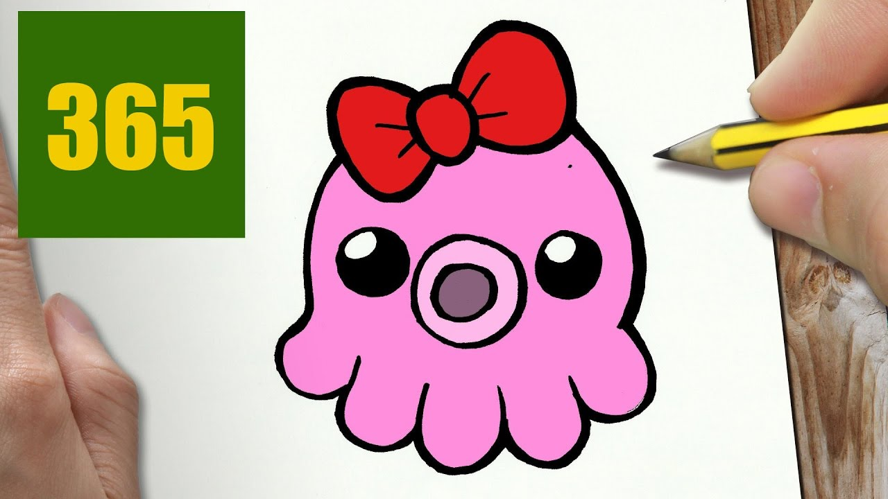 HOW TO DRAW A OCTOPUS CUTE Easy step by step drawing lessons for