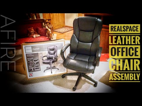 san francisco 35c02 6c214 Realspace Leather Office Chair: Review & Assembly