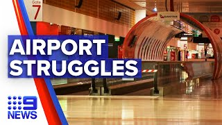 Coronavirus: Passenger decline could lead to airport closures  | 9 News Australia