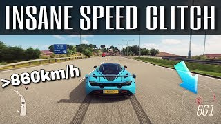 Driving over 860km/h !!! | Forza Horizon 4 | Insane NEW Topspeed Glitch!!