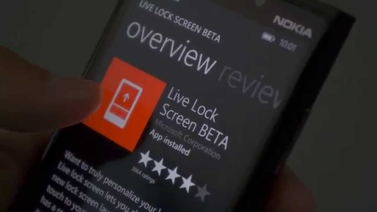 live lock screen windows 10 mobile