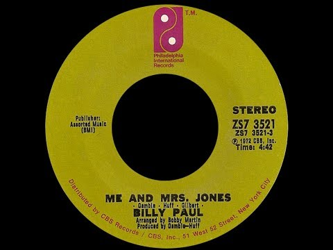 Billy Paul ~ Me & Mrs Jones 1972 Soul Purrfection Version Mp3