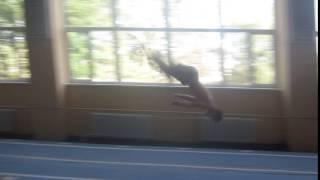Ганжела Егор на акробатической дорожке
