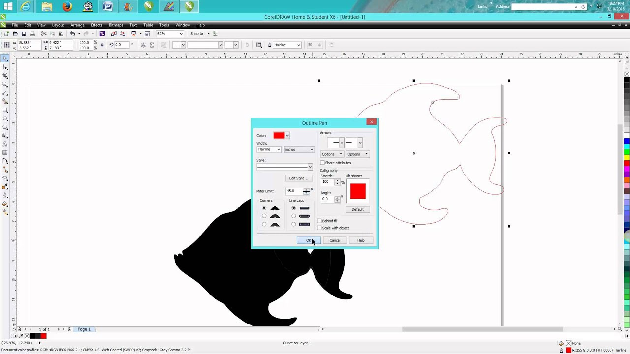 Drawing Lines In Coreldraw : Corel draw tips tricks how to make cut line around a